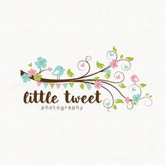 Premade Photography Logo Bird Logo Design by stylemesweetdesign