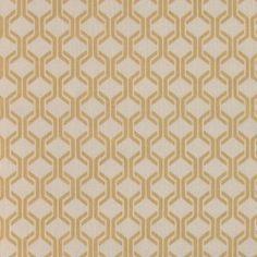 Bomull sand m gylden grafisk print