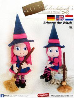 Brianna the Witch XL - Haakpatroon van Eelz! - Eelzuhtjuh's Crochet & More op DaWanda.com