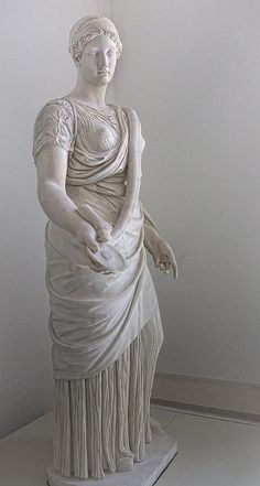 Full length view of the Hope Hygieia, goddess of health, 130-161 CE Roman copy of a 360 BCE Greek original unearthed in Ostia | by mharrsch