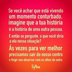 "@instabynina's photo: ""Pense nisso! Arte e frase ByNina #frases #pensamentos #pensenisso #bynina #instabynina"""