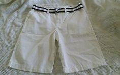 Boys size 14 White Ralph Lauren Classic fit shorts brand new blue stripe belt