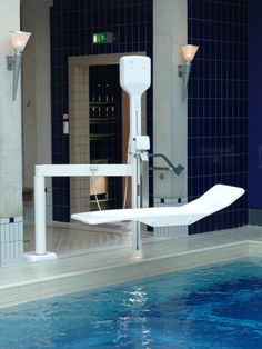 The Pooli hydrotherapy pool hoist with stretcher - Dolphin Mobility