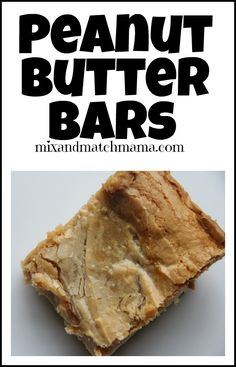These Peanut Butter Bars are so good!  Easy to make and really yummy to eat!