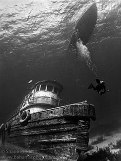 Anthony Bell wreck in the Bahamas. By Shane Pinder.