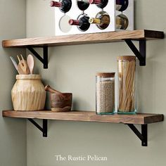 Rustic Wooden shelf Rustic Display Shelf by RusticPelican on Etsy