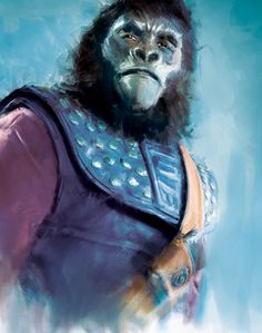 Planet of the Apes Evolution Character Paintings Dawn Of The Planet, Planet Of The Apes, Pierre Boulle, Blade Runner Poster, What Is An Artist, Childhood Movies, Man Character, Vintage Horror, Classic Films