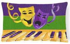 Mardi Gras Canvas Fabric Decorative Pillow