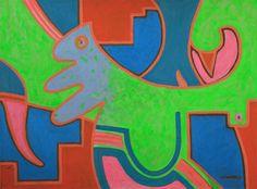 KORZH Taras, POKEMON, 2015, Acrylic on canvas, 100 x 75