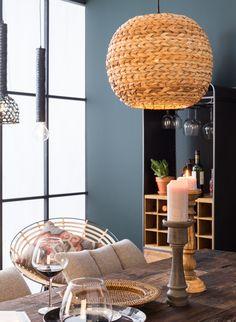 LERAN Pendant lamp 60 cm IKEA 77 00 hung low over dining table