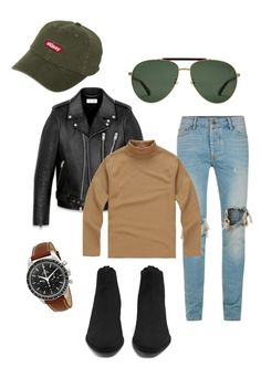 Untitled #6 by giovanni-jose-arroyo on Polyvore featuring polyvore, Topman, Yves Saint Laurent, Gucci, Stussy, men's fashion, menswear and clothing