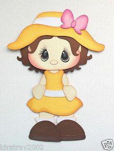 New Girl in Yellow Sun Dress Paper Piecings Summer by My Tear Bears Kira | eBay