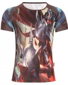 Mordekaiser 3D mens tshirt for summer short sleeve oversized League of Legends tight t shirt-