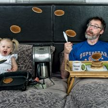 Dave Engledow takes hilarious pictures of him with his daughter. ALL HILARIOUS.