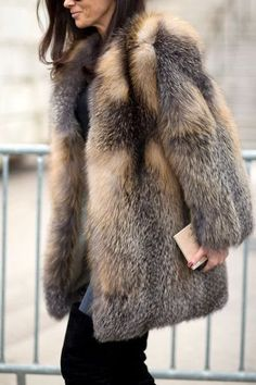 A faux fur coat can always elevate your work look.