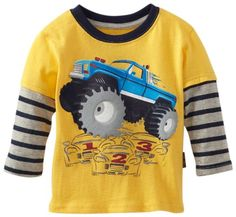 Watch Me Grow! by Sesame Street Baby-Boys Infant 1 Piece Monstar Truck Pullover, Yellow 12m, 18m, 24m 11.900