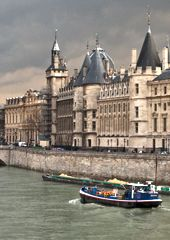 La Conciergerie is the oldest remaining part of the Palais de la Cité, the seat of the kings of France from the through the centuries Paris Landmarks, Pompidou, France, 14th Century, City Lights, Dame, Cities, Lashes, Old Things
