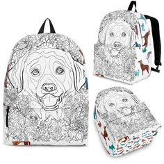 639c0ce5bc8e Adult Coloring BackPack - Free Shipping – The Whisker Depot Cool Backpacks,  Colorful Backpacks,