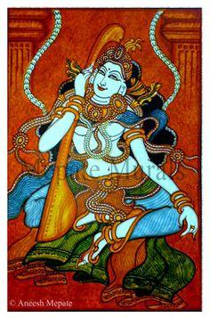 Ragini -  Mural painting by  artist Aneesh Mepate (Mepate Murals)…