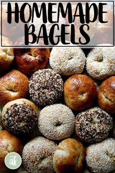 Bagels require kneading, shaping, boiling, and egg washing. But they can still be easy-ish. I find these to be just that, kind of fun to make, very tasty, and perfect for my ideal breakfast this time of year: bagel   cream cheese   tomato ... does it get any better? #bagel #diy #homemade #foodprocessor