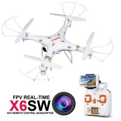 RC Drone Quadcopter X6SW With HD Camera 6-Axis Wifi Real-Time Helicopter FPV Quadcopter VS Syma X5SW X705 #Affiliate