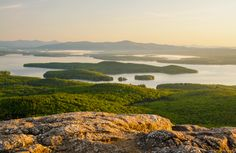 An early spring morning from atop Mt. Major in Alton, New Hampshire. Alton Nh, Local Photographers, White Mountains, New Hampshire, Us Travel, Vermont, New England, Places To Visit, United States