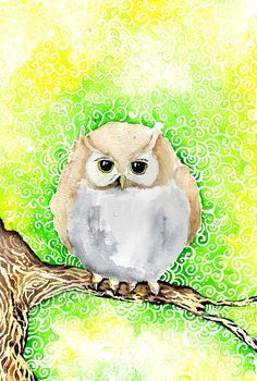 Summer Owl by ~Lavenderwitch on deviantART