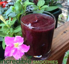 Blackberry jam smoothie recipe! Loaded with antioxidants and fiber.