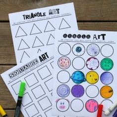 Test your kids creativity (or your own!) with this free shapes printable. It's so fun to see what they come up with!