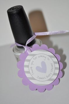 Hey, I found this really awesome Etsy listing at http://www.etsy.com/listing/150215110/12-girls-baby-shower-favor-tags-purple