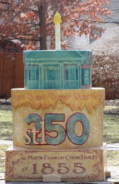 Cake Location: Historic Hanley House Artist: Andy Cross  Location: 7600 Westmoreland Avenue Clayton, MO 63105