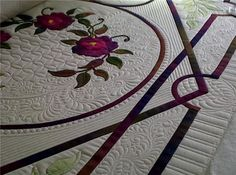 Rhonda K. Beyer. Incredible quilting. When I grow up, I want to be able to quilt like this!!!