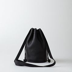 Small leather bucket bag from Baggu at Steven Alan Steven Alan Leather Backpack, Leather Bag, Black Leather, Small Shoulder Bag, My Bags, Purses And Handbags, Leather Purses, Jeans And Boots, Bucket Bag