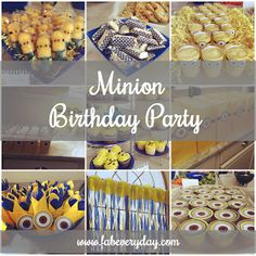 Fab Everyday | Because Everyday Life Should be Fabulous | www.fabeveryday.com: Despicable Me Minion 5th Birthday Party