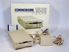 Commodore 1581, this was revolutionary back then... I saved money to get this one, crazy.