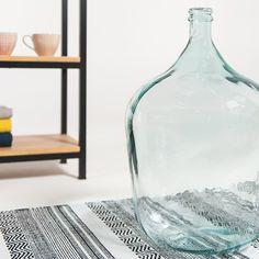 Bonbonne dame jeanne en verre recyclé bleu clair XL Hübsch