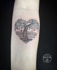 Heart-shaped tree tattoo by Kadu