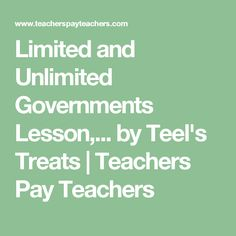 Limited and Unlimited Governments Lesson Flipbook AND Poster Set