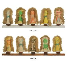Collection of Carnival Punks or Knock Down Dolls, Circus Midway Game | From a unique collection of antique and modern carnival art at http://www.1stdibs.com/furniture/folk-art/carnival-art/
