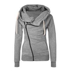 Autumn Winter Warm Women Casual Outwear Hoody Hoodie Hooded Pullover Sweatshirt Jumper Coat Top