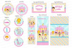 Kit Digital Circo Cor de Rosa para menina - Charme Papeteriaa