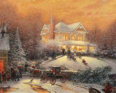 Victorian Christmas II by Thomas Kinkade