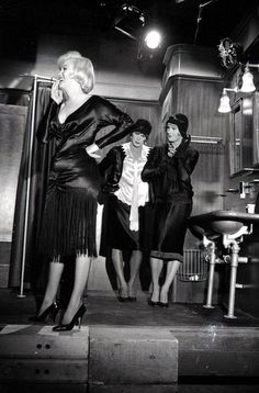 "Marilyn Monroe, Tony Curtis and Jack Lemon between shots during ""Some Like It Hot""."