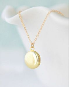 The Tiny Locket Necklace by Olive Yew on JewelMint.com