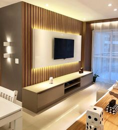 45 Modern Home Entertainment Centers That Will Inspired - Home Design Tv Wall Design, Tv Decor, Tv Room Design, Interior Design Living Room, Home Entertainment Centers, Living Room Design Modern, Living Room Tv Unit Designs, Wall Tv Unit Design, Living Room Designs