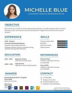 One page resume template - Free Customer Service Representative Resume Format – One page resume template Free Resume Format, Resume Format For Freshers, One Page Resume Template, Cv Template, Resume Templates, Cv Format For Job, Customer Service Resume Examples, Resume Writing Services, Job Resume Samples