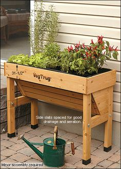 VegTrug™ Wall Hugger from  Lee Valley Tools, a narrow option perhaps for the driveway end wall