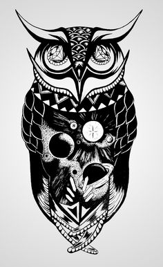 Illustration / Space Owl — Designspiration