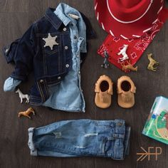 Cowboy Style Inspired featuring Freshly Picked's 'Butterscotch' Moccs #kidsfashion