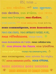 Affiche de porte Classroom Management Tips, French Classroom, Anchor Charts, Mindfulness, Peace, Teaching, Education, School, Jogging
